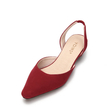 Pointed Toe Suede Flat Shoes In Red