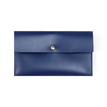 Dark Blue Leather-look Clutch Bag with Magnetic Cover