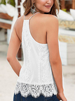 White Lace V-neck Cami