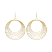 Gold Exaggerated Big Circles Drop Earrings