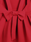 Red Sexy Chiffon Cami Mini Dress with Bow-knot Fastening