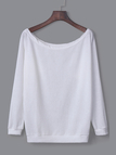White Long Sleeves Loose Jumper