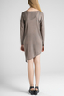 Coffee V-Neck Asymmetric Knitted Top