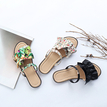 White Floral Printed  Flat Sandals