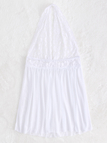 White Halter Sleeveless Lace Details Pajama With T-back