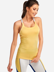 Yellow Backless Bodycon 2-piece Sports Camis & Pants