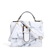 White Mable Pattern Patent Leather Crossbody Bag