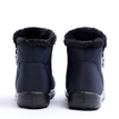 Dark Blue Warm Fur Lining Waterproof Antiskid Boots