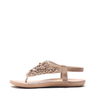 Soft Pink Jewelry Embellished Flat Sandals