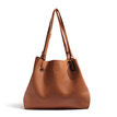 Brown PU Shoulder Bags with Small Clutch Bag