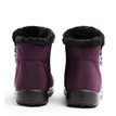 Red Warm Fur Lining Waterproof Antiskid Boots