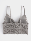 Grey Crochet Lace Bra without Underwire