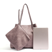 Pink Artificial Leather Shoulder & Across Body Bag