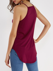 Red Design Chest Cut Out Camis