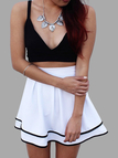 Black Crop Top and A-line Skirt Co-ord