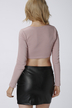 Lace-up Long Sleeves Crop Top