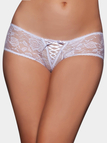 White Cut Out Low-waisted Panties