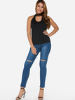 Black Backless Design Lace Sleeveless Camis Top