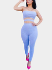 Light-blue Tube Top and Long Trousers Co-ord