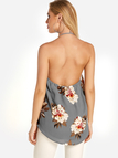 Floral Print Backless Sexy Camis