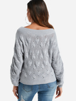 Grey Twist Knitted One Shoulder Sweater