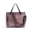 Pink Pockets Design Zip Crossbody Bag