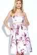 Sexy Off Shoulder Random Floral Print Midi Dress
