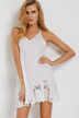 White Hollow Out Cami Dress with Open Back