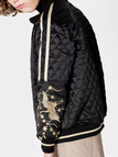 Black Diamond Quilted Embroidery Pattern Sleeves Jacket