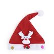 Red Elk Decorated Christmas Hat