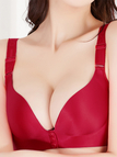 Red Front Closure Wireless 3/4 Cup Bra