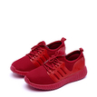 Red Casual Lace-up Design Sneakers