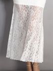 White Off Shoulder Long Sleeves Maxi Party Dress with Lace