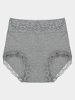 Grey High Waist Seamless Lace Panties
