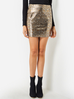 Snake Pattern Bodycon Skirt