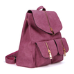 Red Backpack with Two Front Pockets