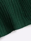 Green Casual Round Neck Knitted Jumper