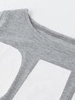 Round neck Letter Pattern Causal Dress in Grey