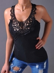 Black Lace Insert Tank Top