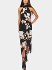 Halter Maxi Dress in Floral Print