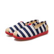 Blue Canvas Stripes Pattern Contract Color Flats