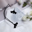 Black Fashion Bat Halloween Drop Earrings