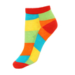 Colorblock Ribbed Ankle Socks with Red Cuffs
