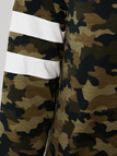 Army Green Camouflage Pattern Round Neck Long Sleeves T-shirt