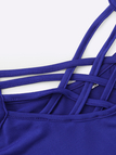 Blue Cross Strap Front Cami