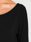 Black One Shoulder Long Sleeves Knitted Casual Top