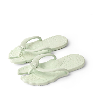 Fashion Light Green Casual Thong Flat Slippers