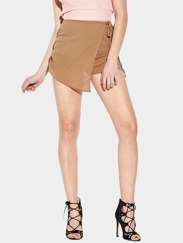 Sexy See-though High Waist Irregular Hem Skort