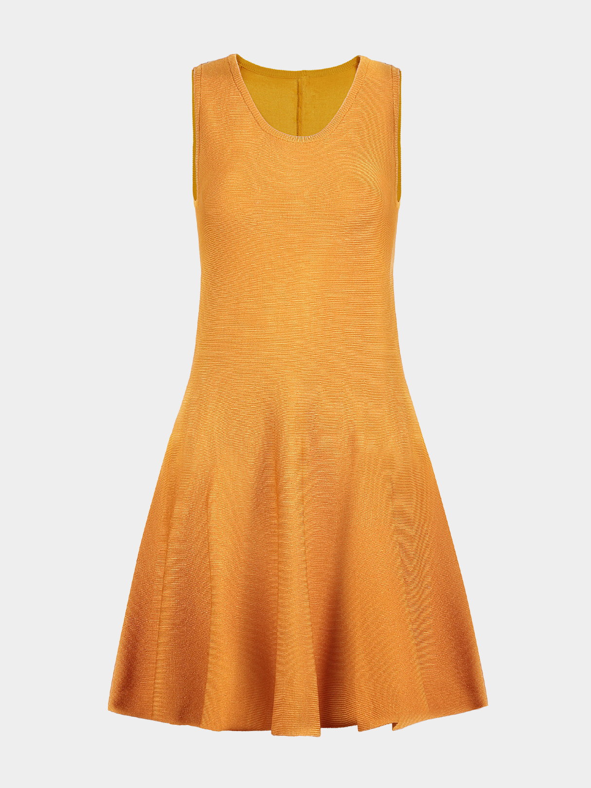 Sleeveless Pleated Dress in Yellow