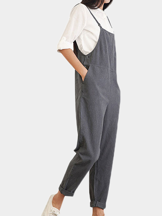 Women Side Pockets Occasional Jumpsuit in Daily